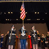FSU's ROTC presents the colors during the 39th annual Honors Convocation at Fitchburg State University on Thursday afternoon. SENTINEL & ENTERPRISE / Ashley Green