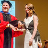 Alexandra Aker receives the President's Scholar Award during the 39th annual Honors Convocation at Fitchburg State University on Thursday afternoon. SENTINEL & ENTERPRISE / Ashley Green