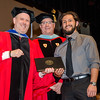 Gustavo Quiros receives the Photography Student of the Year award from Interim Vice President for Academic Affairs Paul Weizer and Dept. Chair Randy Howe during the 39th annual Honors Convocation at Fitchburg State University on Thursday afternoon. SENTINEL & ENTERPRISE / Ashley Green