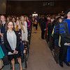 Students enter the 39th annual Honors Convocation at Fitchburg State University on Thursday afternoon. SENTINEL & ENTERPRISE / Ashley Green