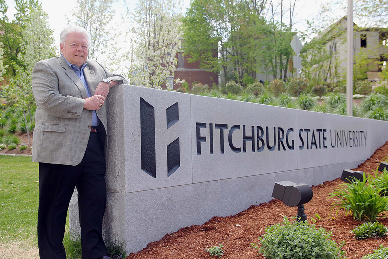 Joseph Byrne the oldest student at Fitchburg State University will be graduating this Saturday. SENTINEL & ENTERPRISE/JOHN LOVE