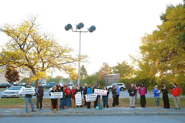 Fitchburg teachers picketing