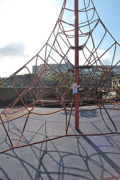 Flat Stanley at Victoria Manalo Draves Park in San Francisco.