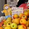 Flat Stanley and Fuji apples