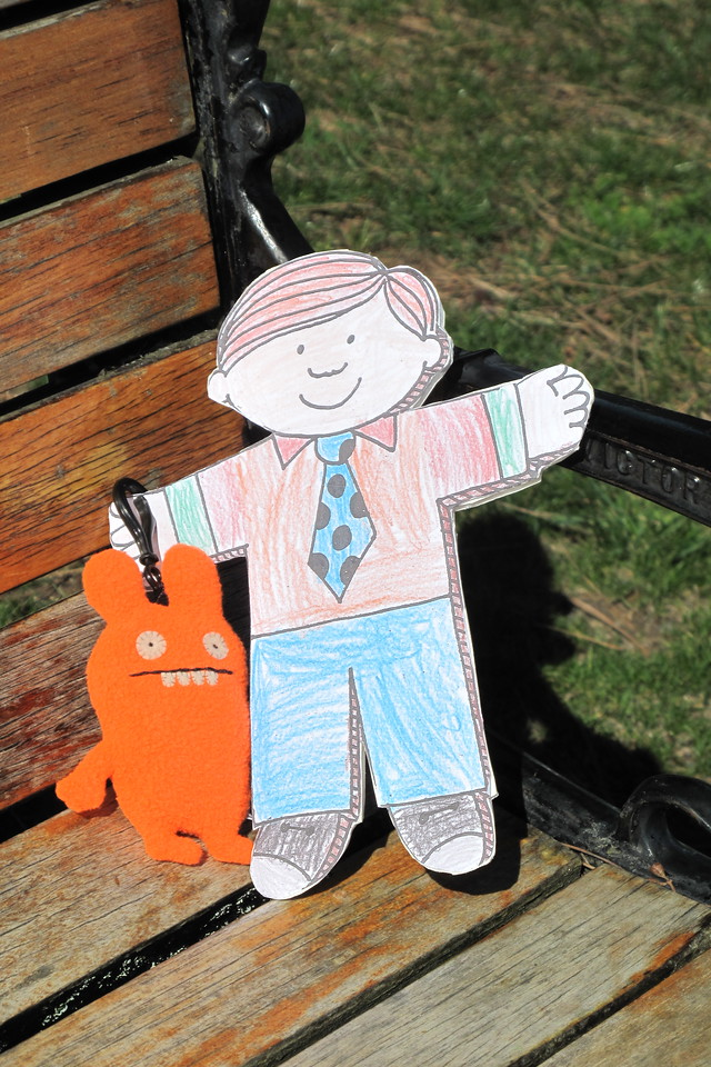 Flat Stanley and his new Ugly Doll