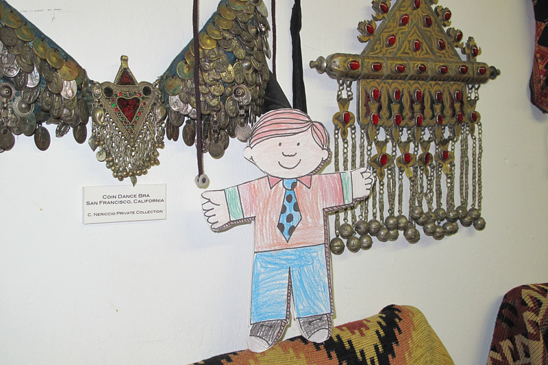 Flat Stanley at Fat Chance Belly Dance.