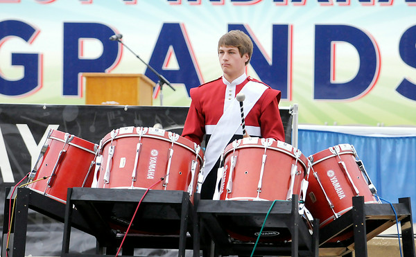 Don Knight   The Herald Bulletin<br /> State Fair Band Day competition on Saturday.