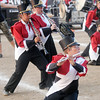 Don Knight | The Herald Bulletin<br /> The Frankton Marching Eagles perform a second time after advancing to the finals at State Fair Band Day competition on Saturday.