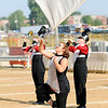Don Knight | The Herald Bulletin<br /> Lauren Pickering performs with the Marching Eagles during Indiana State Fair Band Day on Saturday.