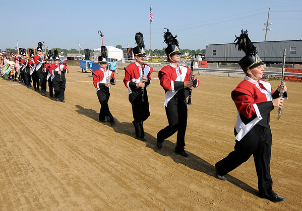 Don Knight   The Herald Bulletin<br /> Indiana State Fair Band Day on Saturday.