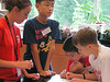 Germantown Academy science campers try to solve the mystery of the cookie thief as they work with forensic evidence June 14. Montgomery Media staff photo / ERIC DEVLIN