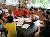 Rebecca Pizzino, an upper school science teacher at Germantown Academy, talks with science campers about the forensic investigation they just performed. June 14. Montgomery Media staff photo / ERIC DEVLIN