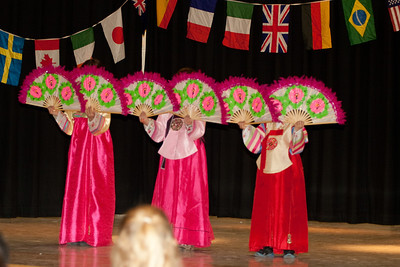 International Night at Garrett Park Elementary School, first Int'l Night in the brand new school building, Jan 2012