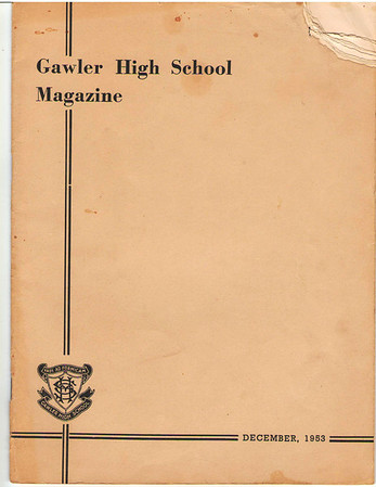 Gawler High School 1953