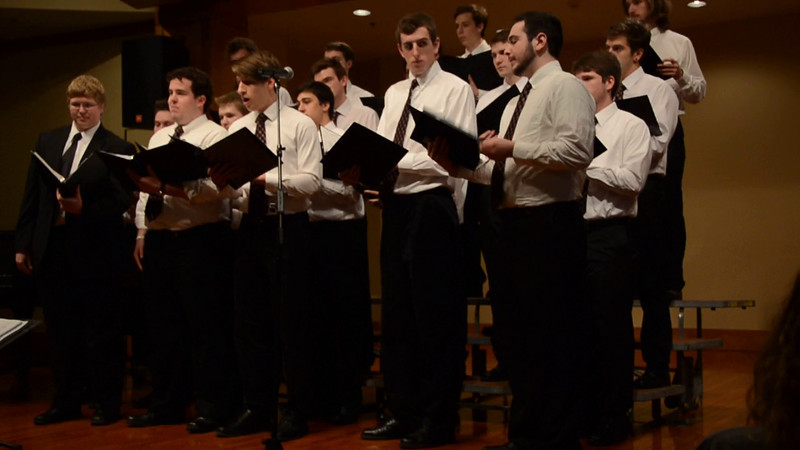 Ave Maria, written by Franz Biebl, solos by Kolby, Sam, Michael, Randy and Chris, directed by Justin Cha