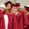 Goodrich Academy students enter the graduation ceremony held at Fitchburg High School on Thursday evening. SENTINEL & ENTERPRISE / Ashley Green