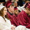 Students listen to speakers during the Goodrich Academy graduation ceremony held at Fitchburg High School on Thursday evening. SENTINEL & ENTERPRISE / Ashley Green