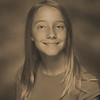 Grace's 6th grade photo - sepia