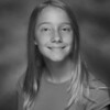 Grace's 6th grade photo - black & white