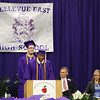 Class valedictorians speak.