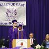 Class valedictorians speak.