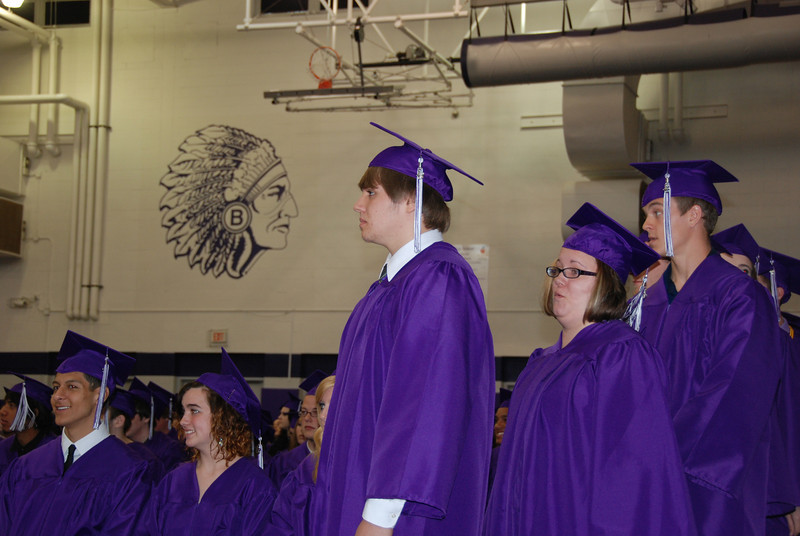 Hunter Amaroso, Jeremy's friend, waits to get his diploma.
