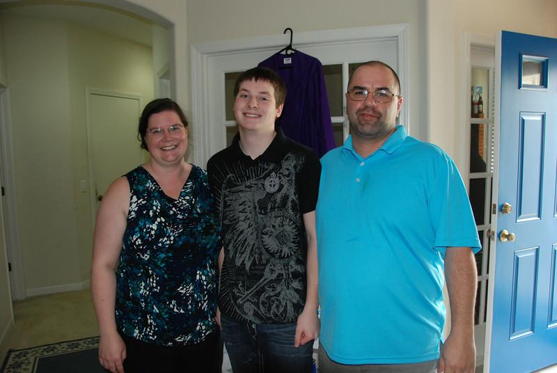 Shannon, Jonathan and her husband Darren.