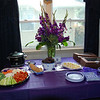 Graduation party June 1: Everything is ready! Food from Wohlner's and flowers by Paul Simpson at Simply Flowers.