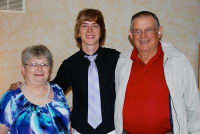 Jeremy with Grandma and Grandpa Wulf.