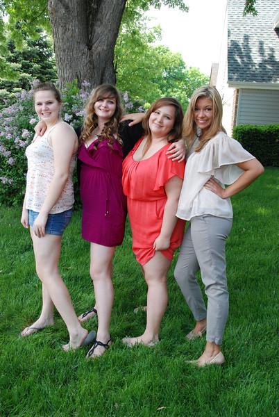 Morgan, Sarah, Christine and Valencia.