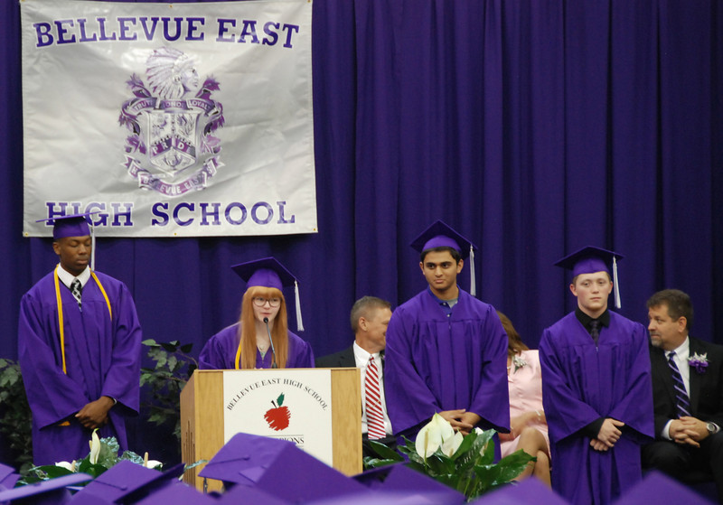 Class officers do the tassel ceremony.