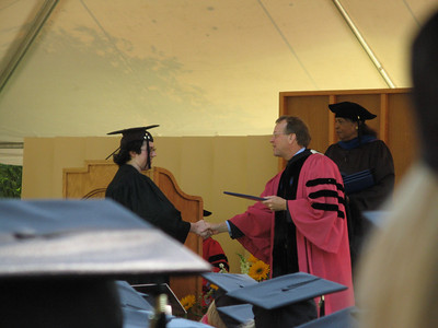 Graduation (people and Pres. Oden)