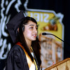 Annalee Patel, one of the three valedictorians for the class of 2012, addresses her Daleville High School classmates.