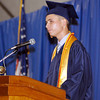 The 2012 Shenandoah High School Commencement.  Valedictorian Matthew Roeder addresses his classmates.