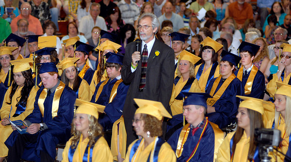 The 2012 Shenandoah High School Commencement.  Shenandoah principal Charles Willis addresses the senior class one last time.