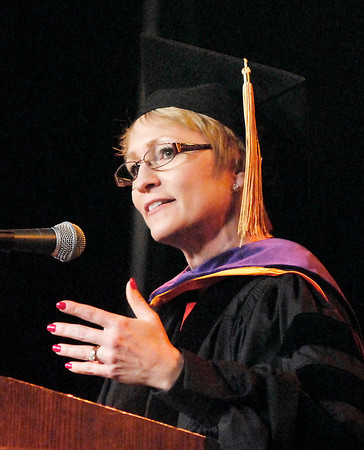 John P. Cleary   The Herald Bulletin<br /> Lt. Governor of Indiana Susan Ellspermann gave the commencement address at Anderson University Saturday.