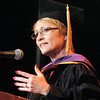 John P. Cleary | The Herald Bulletin<br /> Lt. Governor of Indiana Susan Ellspermann gave the commencement address at Anderson University Saturday.