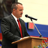 Chris Martin for THB<br /> Superintendant Dr. Timothy Smith addresses Elwood's 2014 graduating class Sunday