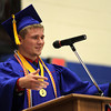 Chris Martin for THB<br /> Elwood's Senior Class President Derek Haas addresses the 2014 graduating class Sunday