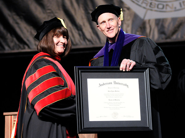 Don Knight | The Herald Bulletin<br /> Anderson University Commencement at the Kardatzke Wellness Center on Saturday.