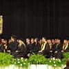 The Daleville graduating class of 2015 await their diplomas.
