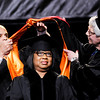 Don Knight | The Herald Bulletin<br /> Arnetta McNeese Bailey receives an honorary degree during Anderson University's commencement on Saturday. McNeese is executive director of Christian Woman Connection and is a member of Sherman Street Church of God in Anderson.