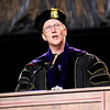 Don Knight | The Herald Bulletin<br /> Anderson University President John Pistole gives his charge to the class of 2016 during the school's 98th commencement on Saturday.