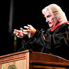 Don Knight   The Herald Bulletin<br /> Commencement speaker Leonard Sweet tells students  to join Jesus in what He is already doing during Anderson University's commencement on Saturday.