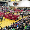 Mark Maynard | for The Herald Bulletin<br /> The Alexandria High School Gymnasium was packed with family and friends to watch the Class of 2017 graduate on Friday evening.