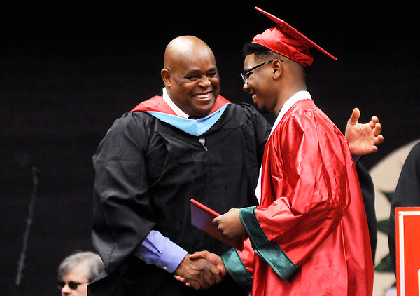 Don Knight   For The Herald Bulletin<br /> Anderson held their graduation on Tuesday.
