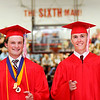 Don Knight | The Herald Bulletin<br /> Students walk to their seats during the processional as Frankton held their Commencement on Friday.