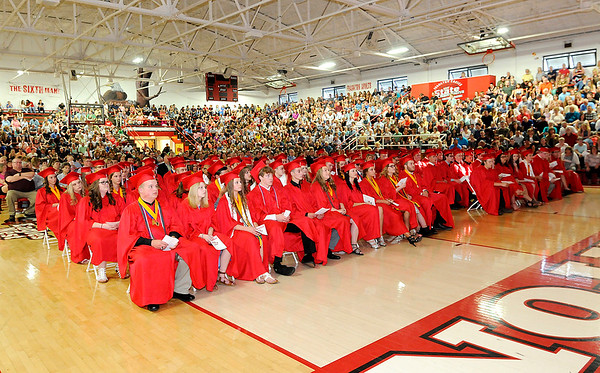 Don Knight | The Herald Bulletin<br /> Frankton held their Commencement on Friday.