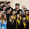 "Don Knight | The Herald Bulletin<br /> Graduating seniors join the rest of the show choir to perform ""Maybe Someday"" during Lapel's graduation on Saturday."