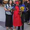 Mark Maynard | For The Herald Bulletin<br /> Liberty Christian graduate Jahla Rashae McCloud recieves congratulations from her parents, Caroline and Melvin McCloud.